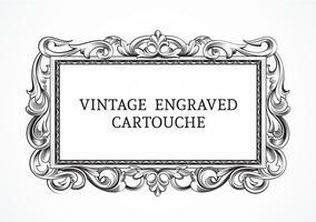 Cartouche gravée vintage de vecteur libre