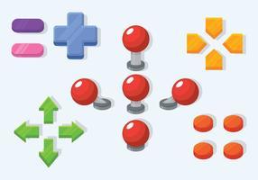 Boutons d'arcade colorés gratuits vecteur