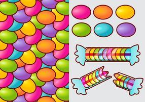 Smarties candy gradient vecteur éléments