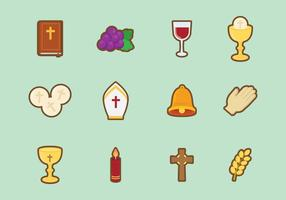 Vecteur eucharistique mignon gratuit