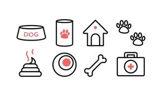 Ensemble d'icônes de chien gratuit