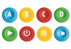 Icône d'icône de bouton d'arcade gratuit vecteur
