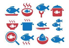 Vecteur de poisson frit