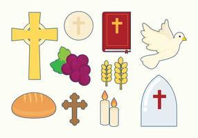 Icônes de l'eucharistie libre vecteur