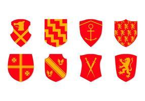 Vecteur libre d'icônes de bras d'armoiries