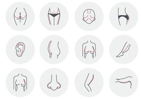 Chirurgie plastique femme beauté gratuite vecteur