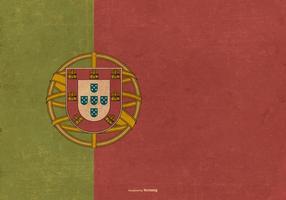Drapeau grunge du Portugal vecteur