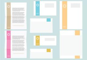 Modèles de lettres et enveloppes colorées vecteur