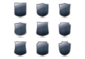 Vecteurs en forme de bouclier Shield réalistes