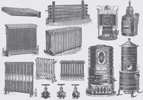 Radiateurs Vintage vecteur