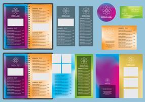 Modèles de menu Gradients