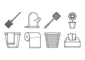 Vecteur libre d'icônes d'outils ménagers