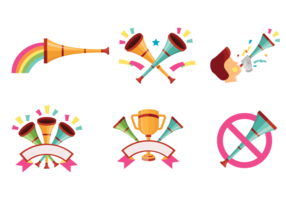 Vecteurs célébrités Vuvuzela vecteur
