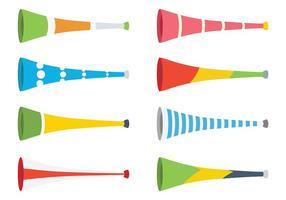 Vecteur d'icônes Vuvuzela gratuit
