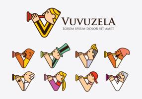 Icônes Logo Vuvuzela vecteur