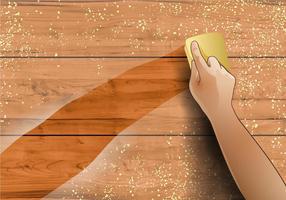 Essuyer le bois poussiéreux vecteur