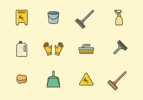 Ensemble d'icônes de nettoyage vecteur
