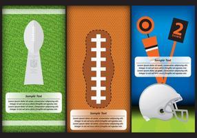 Modèles de football vecteur