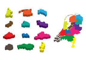 Carte 3D Netherland vecteur