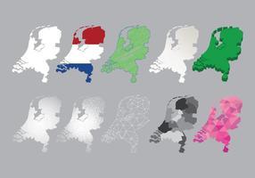 Carte gratuite des Pays-Bas vecteur