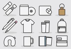 Icônes de modèle de marque