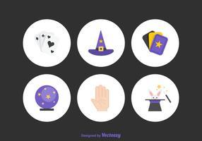 Icônes vectorielles magiques gratuites vecteur