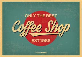 Fond d'écran Vintage Retro Style Coffee Shop vecteur