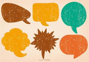 Bulles de discours colorées affligées vecteur