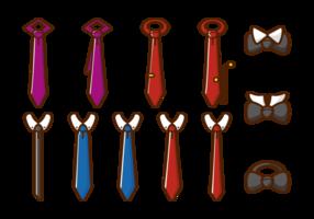 Cravat icônes vectorielles vecteur