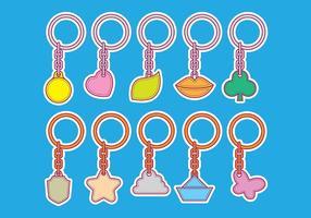 Forme vectorielle Icônes porte-clés vecteur