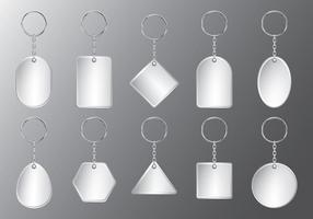 Ensemble porte-clés en plastique vecteur