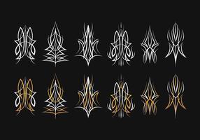 Collection de conception à rayures vecteur