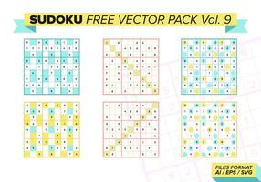 Sudoku pack vectoriel gratuit vol. 9