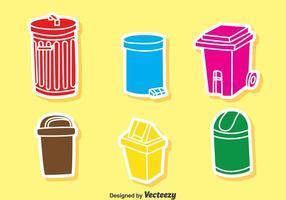 Vecteur icône des ordures colorées