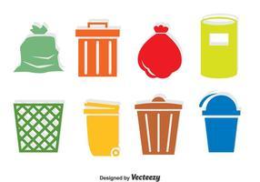 Vecteur d'icônes des ordures