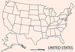 Carte en blanc de la carte des États-Unis