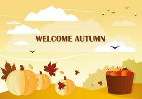 Vecteur de bienvenue gratuit automne