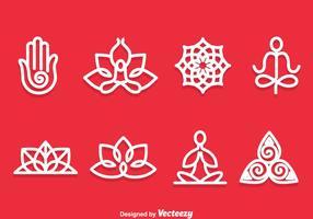 Vector de symboles de méditation de yoga