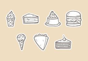 Illustrations vectorielles de dessert vecteur