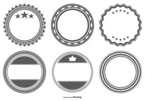 Formes de badge vectoriel en blanc