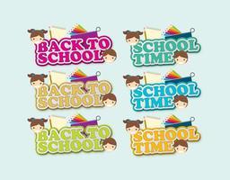 Back to School Shadow Titles vecteur