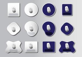 Tapis de souris design de base vecteur