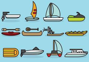 Cute Aquatique Transports vecteur
