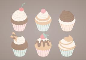 Illustration des cupcakes vectoriels