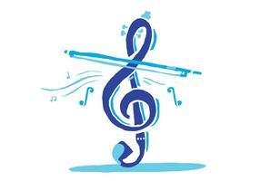 Clé de violon bleu vecteur