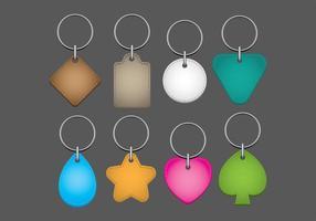Vecteurs de clés porte-clés colorés vecteur