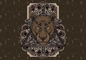Panthère Vintage Panther vecteur