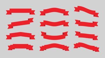 Rubans rouges vecteur