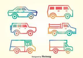 Ensemble vectoriel de collection de voitures