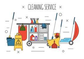 Icônes de nettoyage gratuites vecteur